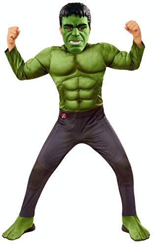 Rubies - Disfraz Oficial de Los Vengadores Endgame Hulk, Talla S, Edad 3 a 4, Altura 117 cm