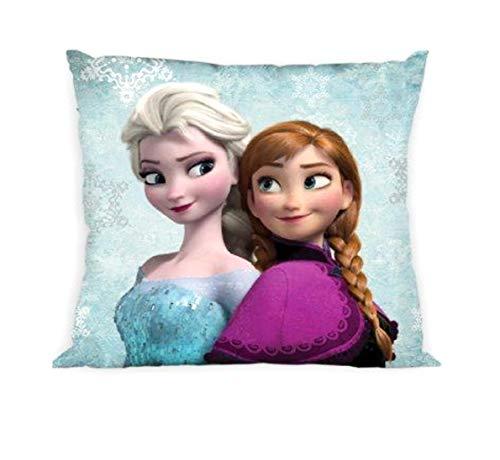 Theonoi Kinder Baby Kissenbezug - 40x40cm beidseitig Bedruckt Vor- und Rückseite ohne Kissen wählbar Princess Sofia Frozen - schönes Mädchen Geschenk (Frozen 02 AB)