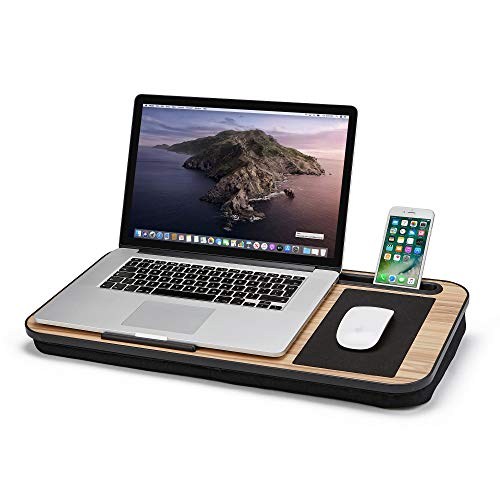 Lap-it Laptop Tray with In-built Mouse Pad & Phone Holder, Lap Desk with Cushion for Laptops up to 15.6', Portable Laptop Desk for Work, Home & Travel