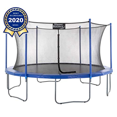 Upper Bounce 16 FT Round Trampoline Set with Safety Enclosure System -...