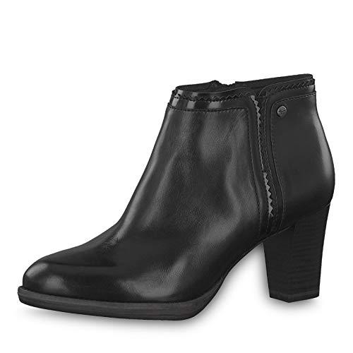 Tamaris Damen Stiefeletten 25347-23, Frauen Ankle Boots, Woman Freizeit leger Stiefel halbstiefel Stiefelette Bootie knöchelhoch,Black,40 EU / 6.5 UK