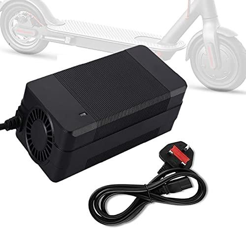 Cargador adaptador de scooter eléctrico 42V 3A / 4A, reemplazo del cargador de batería con cable de carga, cargador de batería de fuente de alimentación para scooter de equilibrio inteligente M365, bi