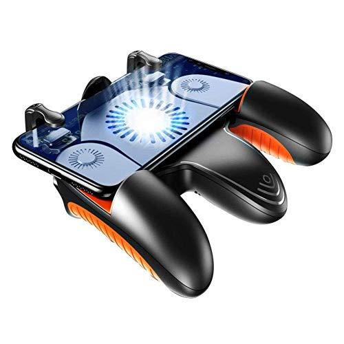 Mobile regulador del juego, juego del teléfono celular Activadores teclas sensibles al AIM, juego de disparo Joystick Gamepad Grip for Android y el IOS Smartphone con ventilador de refrigeración