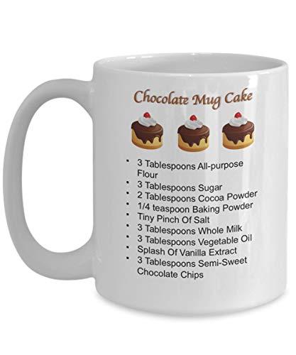 LAKILAN Tasse Kuchen Rezepte,Kuchen Tasse,Kuchen in Einer Tasse,Tasse Rezepte,Rezept Tasse,Schokoladenkuchen,Mahlzeiten in Einer Tasse,Rezept Tasse