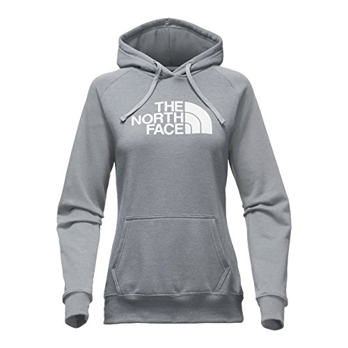 The North Face Women's Half Dome Hoodie - Medium Grey Heather & White - L