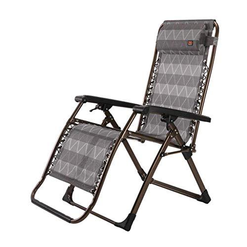 Chaise Pliante inclinable zéro gravité élargie Bandeau de Jardin Chaise Longue Chaise de Plage avec Porte-gobelets (Couleur: A2)