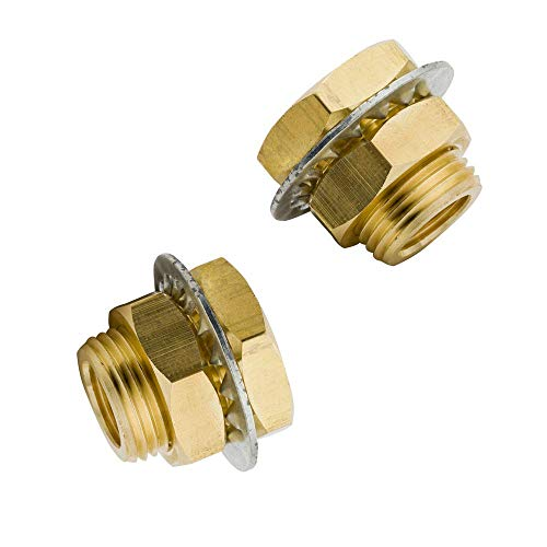 Legines Brass Bulkhead Fitting, 1/8