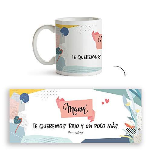 Fotoprix Taza Personalizada con texto para Mamá | Regalo personalizado día de la Madre | Varios diseños Disponibles. (Diseño: Madre 9)