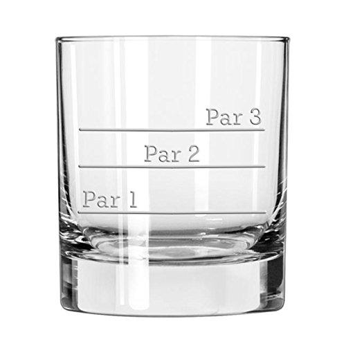 19th Hole: Par 1 - Par 2 - Par 3 Whiskey Golf Glass