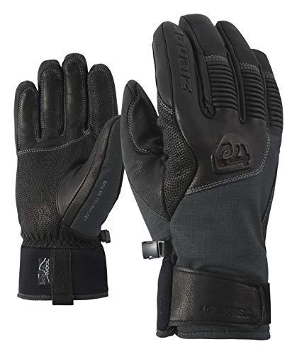 Ziener Herren GANZENBERG AS(R) AW Glove Alpine Ski-Handschuhe/Wintersport, Wasserdicht, Atmungsaktiv, Grey Iron tec, 9,5
