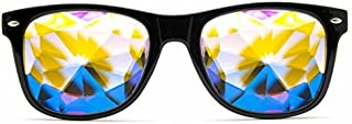 GloFX Ultimate Kaleidoscope Glasses - Rainbow Edm Rave Light Diffraction Festival Eyewear Edge Cut