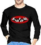 MZJY KMFDM Logo Men Long Sleeve T Shirt 100% Cotton Comfortable T-Shirt