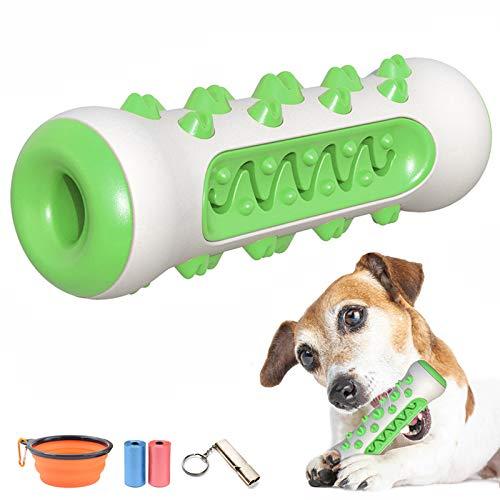 Kauspielzeug für Hunde Snackknochen mit Zahnpflege-Funktion Hundespielzeug Naturgummi Zahnbürsten Molar Stick unzerstörbares Interaktives Hundespielzeug Geeignet für große mittlere kleine Hunde