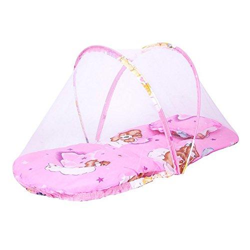 ThreeH Tienda desplegable de mosquitera para bebé tienda con almohadilla almohada BX01,Pink