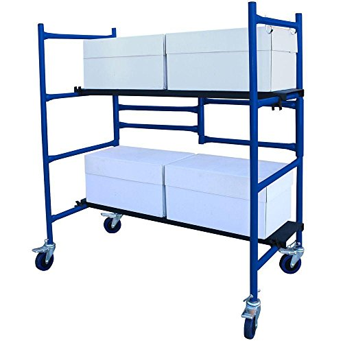 4 ft. Mini Foldable Scaffold Mobile Workbench Storage Cart