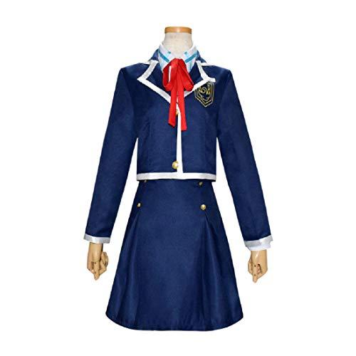 YYFS Anime Cosplay Costume Uniform Uniform Party Halloween Damas Chaqueta Camisa Falda Corbata,Clothing Suit-XX-Large