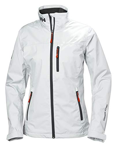 Helly Hansen W Crew Midlayer Jacket Chaqueta Impermeable, Mujer, White, L