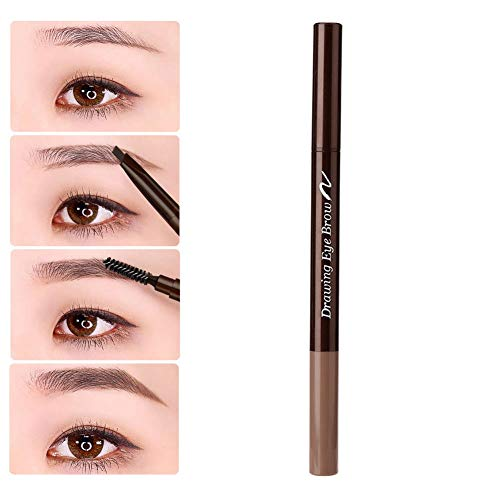 Automatic Double Tip and Rotary Eyebrow Pencil, Waterproof and Sweatproof Eyebrow Pen(07)