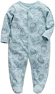 Bebé Mamelucos Pijama Peleles Algodón Niñas Niños Manga larga Monos Pie Sleepsuit Una pieza Ropa 0-3 meses