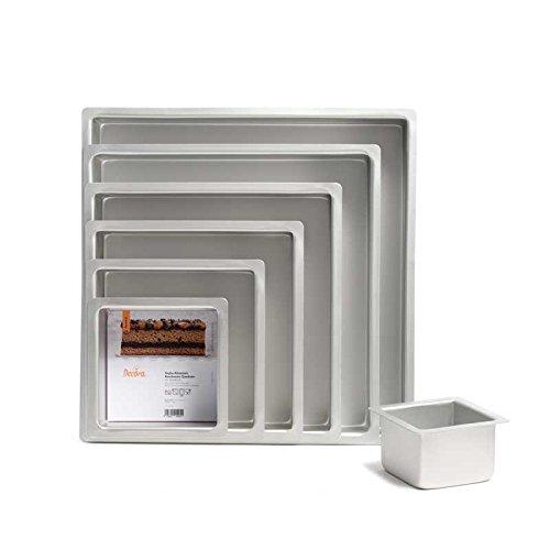Decora 0062605 Teglia Professionale Quadrata in Alluminio Anodizzato, Argento, 20 x 20 x 10 cm