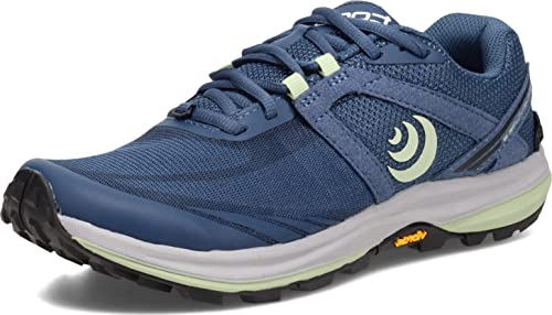 Topo Athletic Women's Terraventure 3 Comfortable Cushioned Durable 3MM Drop Trail Running Shoes, Athletic Shoes for Trail Running, Denim/Mint, Size 8.5