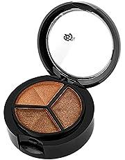 SENZHILINLIGHT Professionele Rokerige Kosmetische Set 3 Kleur Matte Oogschaduw Make-up Oogschaduw Palet Met Borstel en Spiegel