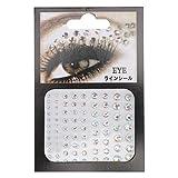 Pegatinas de diamantes de imitación, gemas autoadhesivas para la cara Pegatina de maquillaje de cristal con brillo para el ojo de la cara del cuerpo (transparente)