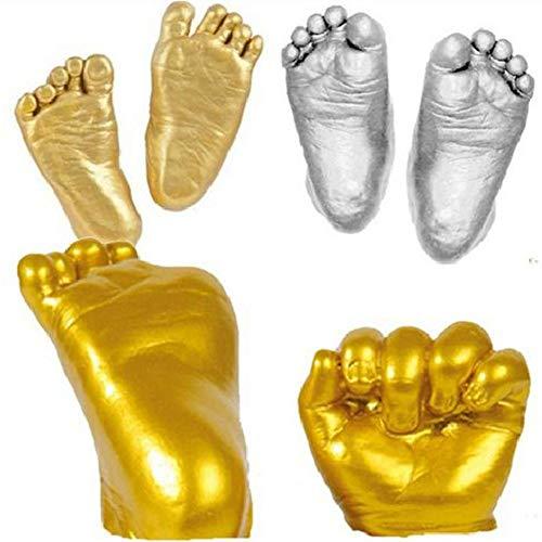 AIHOME Kit de moulage 3D pour empreintes de mains et de pieds de bébé - Moulage de poudre de clonage et de main pour bébé - Unisexe - Cadeau de naissance
