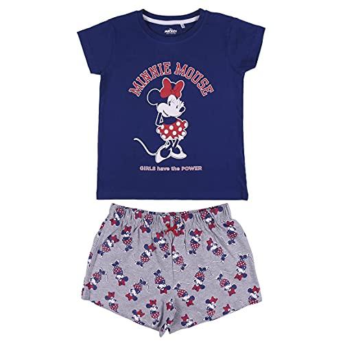 CERDÁ LIFE'S LITTLE MOMENTS Pijama Minnie Mouse Corto Niña-Licencia Oficial Disney, Azul, 10 años para Niñas