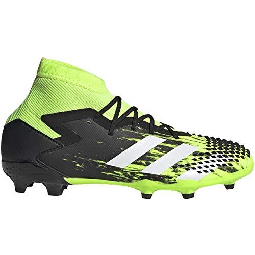 adidas Predator Mutator 20.1 FG Soccer Cleats (Kids), 3.0, Signal Green/Footwear White/Core Black