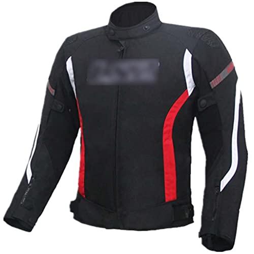 Chaqueta De Moto Mujer Chaqueta De Ciclismo De 4 Estaciones para Uso Todoterreno, Chaqueta De Moto Cálida para Mujer, con Equipo De Protección Certificado CE (Color : Black, Size : XL)