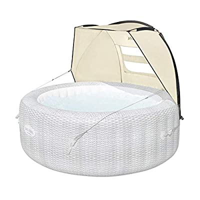 Bestway 60304 Small Windproof UV Protection Sun Shade Canopy Attachment with Mesh Windows Accessory for Round Inflatable Hot Tub Spas (Canopy Only)