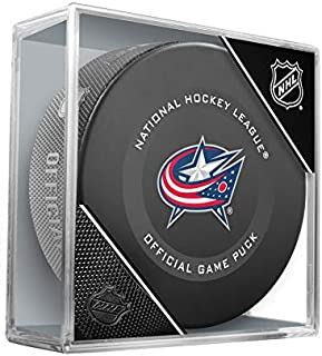 Columbus Blue Jackets Inglasco Official NHL Game Puck in Cube - New 2019