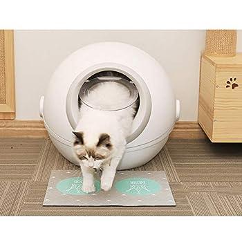 Shsi D-Bac À Litière Chat   Maisons De Toilette pour Chats   Litière Très Absorbante   Bac À Litière Autonettoyante