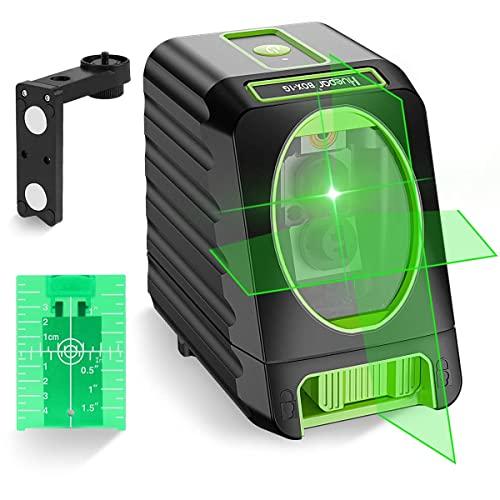 Huepar BOX-1G Nivel Láser Verde 45m, MODO DE PULSO, Pro Precisión: ± 2 mm/ 10m,...
