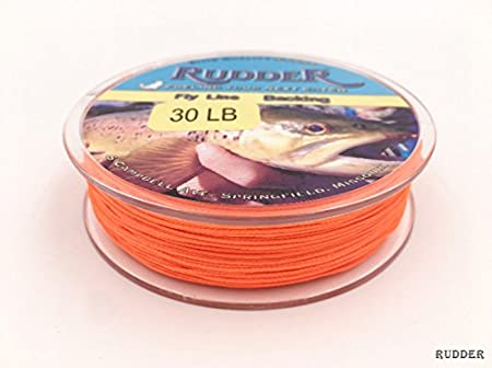 Rudder Braided Fly Line Backing Line 20 LB 30 LB White Orange Yellow Green Purple 109 Yrd