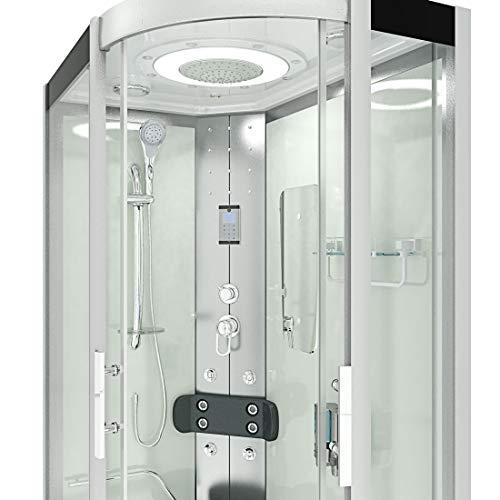 AcquaVapore DTP8060-7000R Dusche Duschtempel Komplett Duschkabine 80×120 - 4