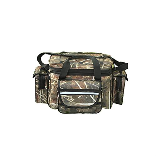 Multifunctional Fishing Tackle Bag Bolsa de hombro al aire libre Grande Capacidad impermeable Impermeable Camping al aire libre Pesca Viaje Bolsa de hombro señuelo Almacenamiento Pesca Paquete de apar