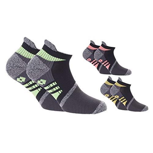 Lotto Salvapiede tecnica sportiva con tallone extra confort 3 paia (scarpa 39/42, Multicolore)