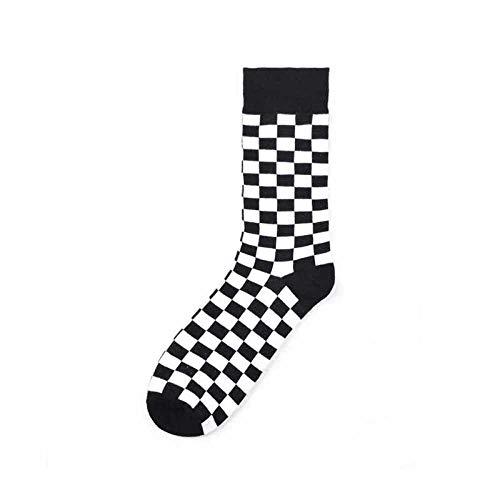 Générique Bedruckte Socken, Mens, Baumwolle, bunt, mit Muster in Weiß & Schwarz