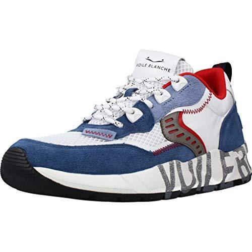 VOILE BLANCHE CLUB01-Sneaker in Suede e Mesh Tecnico Blu Chiaro 41