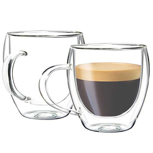Youngever 2 Pack Glass Espresso Mugs