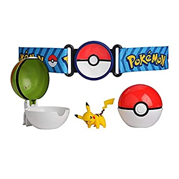 Pokemon Clip  N  Go Poke Ball Belt Set Comes with Poke Ball Nest Ball and 2-Inch Pikachu Figure- Perfect for any Trainer