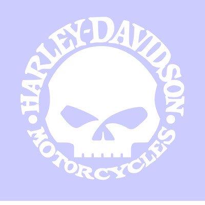 effetto cromo Harley Davidson replica teschio decal skull adesivo prespaziato senza fondo in vinile colore argento metallico specchiato 10 centimetri.