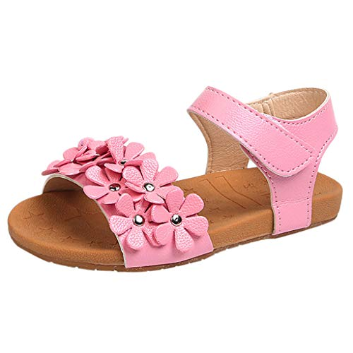 Berimaterry Zapatos De Bebé Sandalias Niña Sandalias Romanas Bebé Niña Verano Zapatos Planos Zapatillas de niñas Princesa Sandalias de Playa Crystal Chicas Zapatillas Sandalias para niñas Calzado