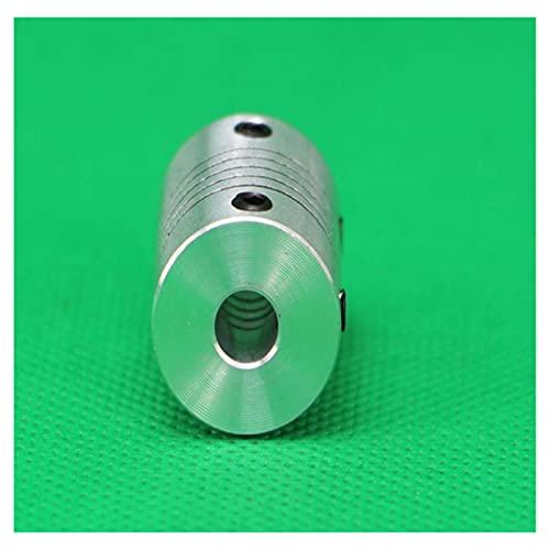 HLY-CASE - Accoppiatore per stampante 3D, accessorio motore passo-passo in lega di alluminio, accoppiamento flessibile, giunto albero accoppiatore, 5 x 5 x 8, universale (diametro interno: 6 x 8 )