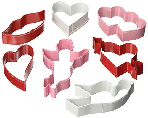 R&M International Valentine Cookie Cutters, Assorted Designs, 7-Piece Set