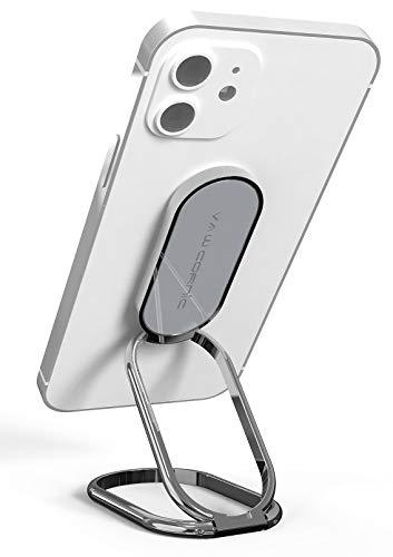 VAWcornic Handy Ring Handy Fingerhalter - 540° Doppelt Gerichteter Drehbarer Handy Ständer Handy Halter Universal Ring Halterung Ringhalter Handyhalterung für iPhone iPad Samsung und mehr (Dunkelgrau)