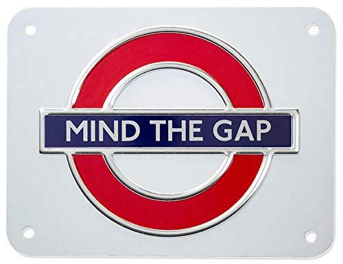 GWC london underground Zeichen, Mind Die Lücke, Kleines Metallschild