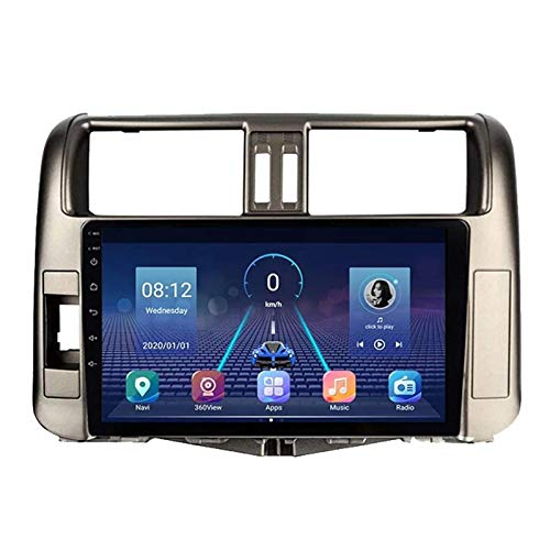 Android 8.1 GPS Navigation Car Radio Player para Toyota Prado 2009-2013, Bluetooth Llamadas De Manos Libres/Controles De Volante/RDS/FM/Vista Posterior Cámara,4 Core-WiFi: 1+16G